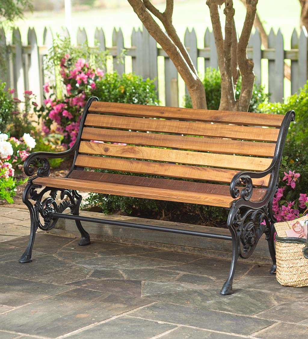 New Castle Reclaimed Teak Park Bench