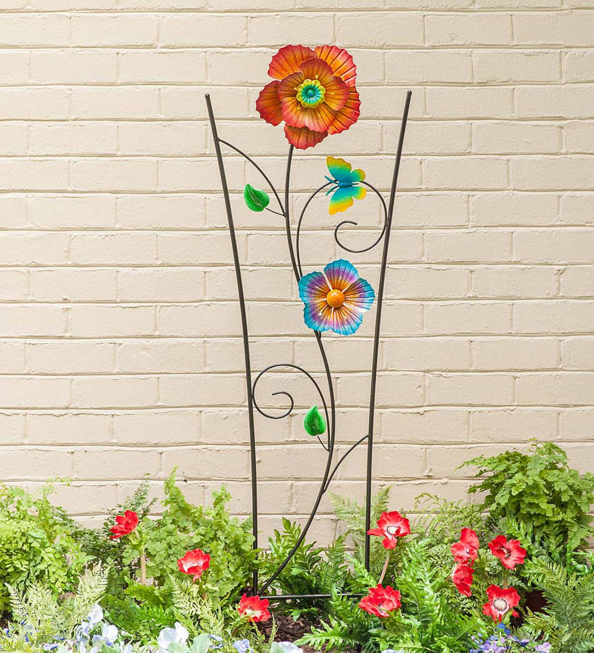 Spinning Flower Garden Trellis - Blue