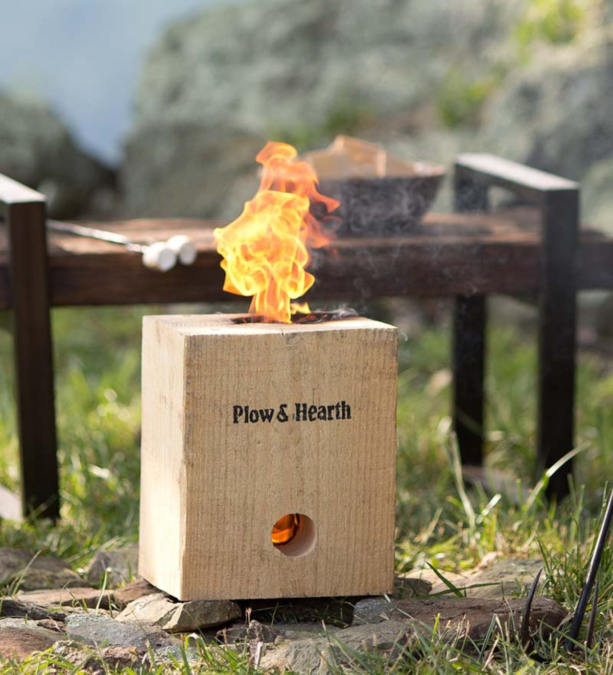 BlazingBlock Portable Outdoor Wood Bonfire   Fire Starters & Fatwood