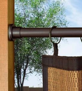 Stainless Steel Indoor-Outdoor Spring Tension Curtain Rod Set