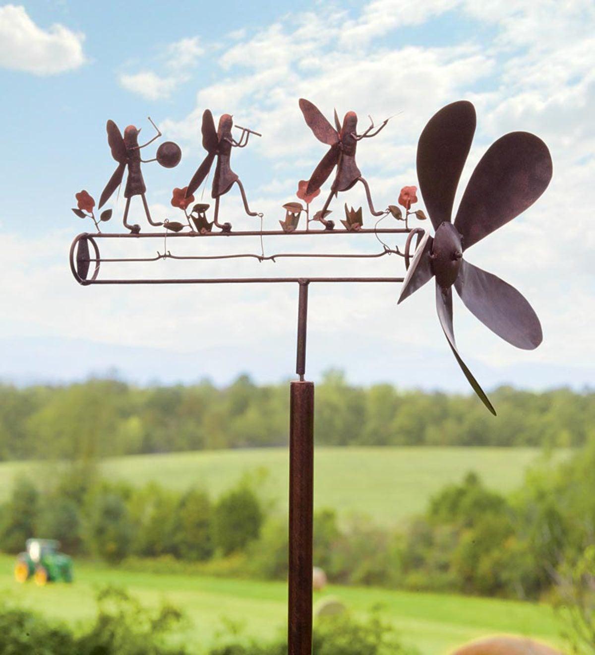 Exceptionnel Fairy Band Garden Whirligig