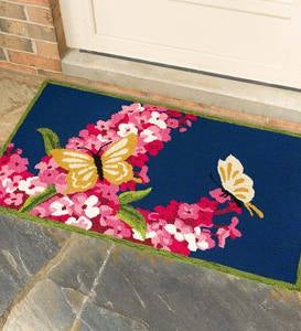 Butterflies and Lilac Indoor/Outdoor Accent Rug