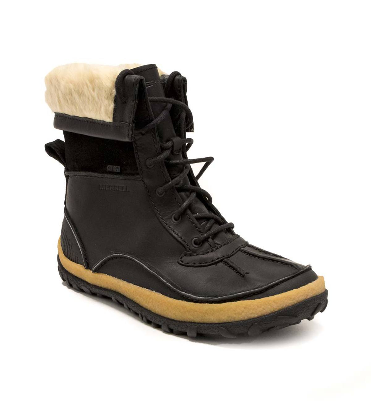 new authentic on feet shots of outlet store Merrell Women's Tremblant Mid Polar Waterproof Boot - Black - Size ...