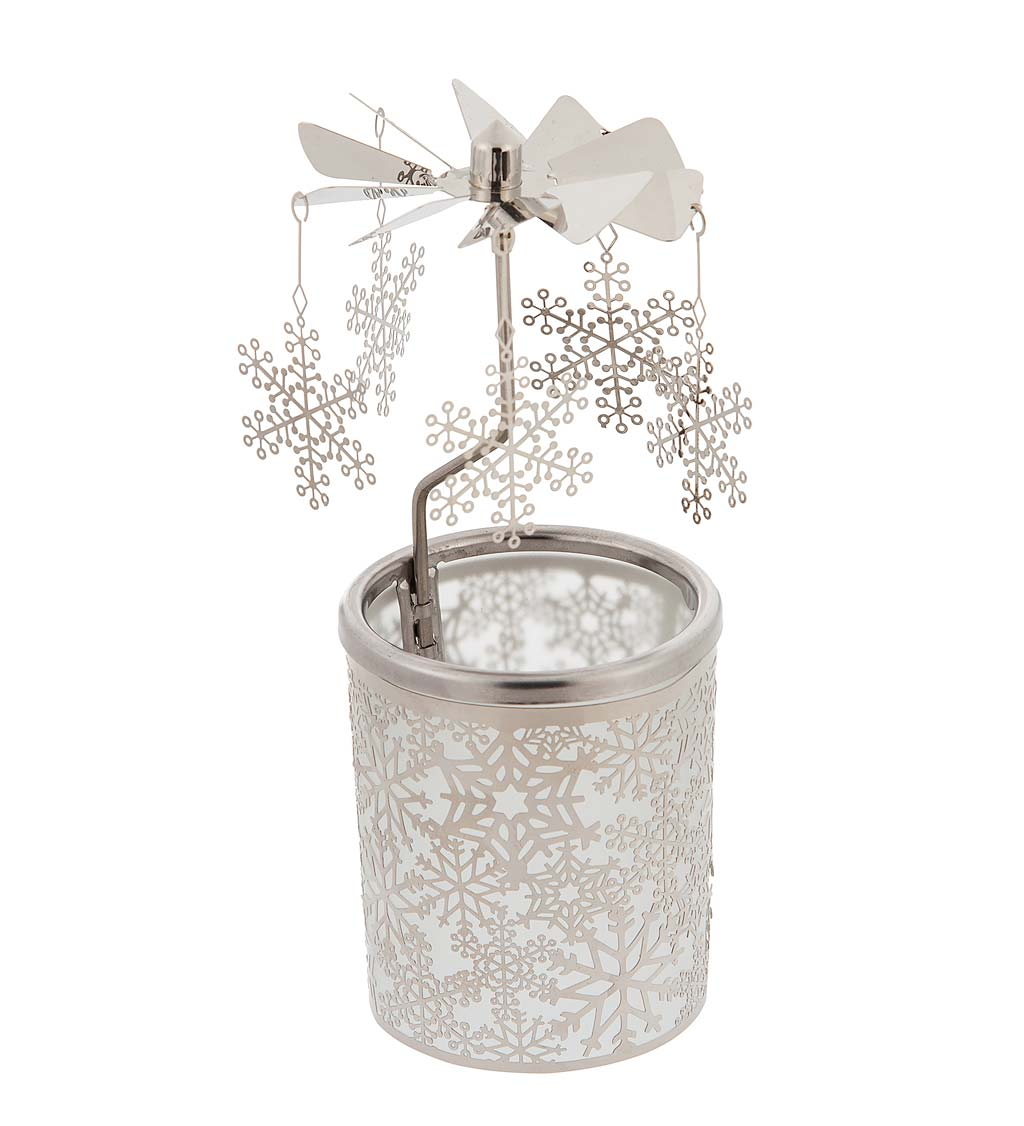 Rotating Winter Scene Windmill-Style Candle Holder swatch image