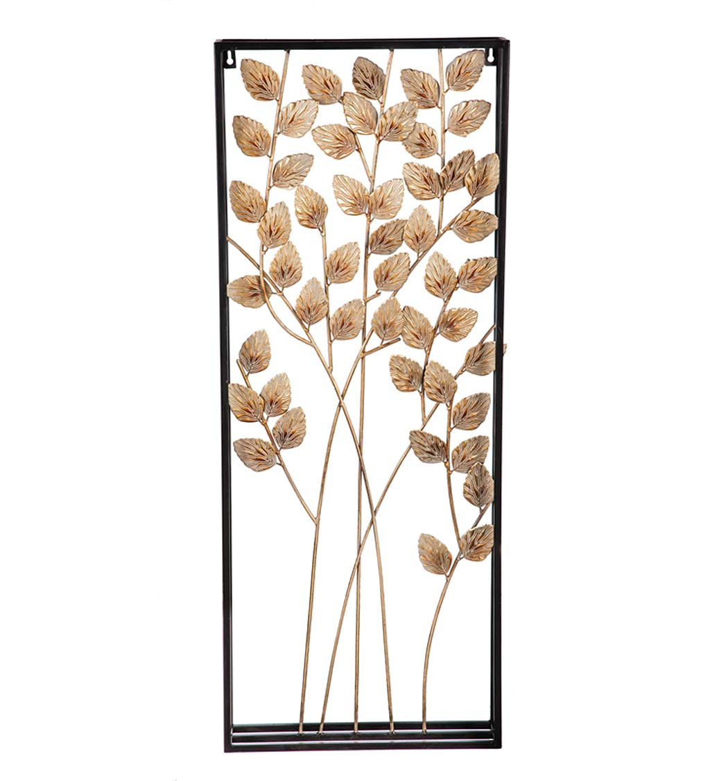Framed Metal 3D Leaf and Branch Wall Art