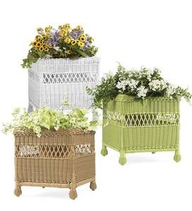 Easy Care Resin Wicker Square Planter