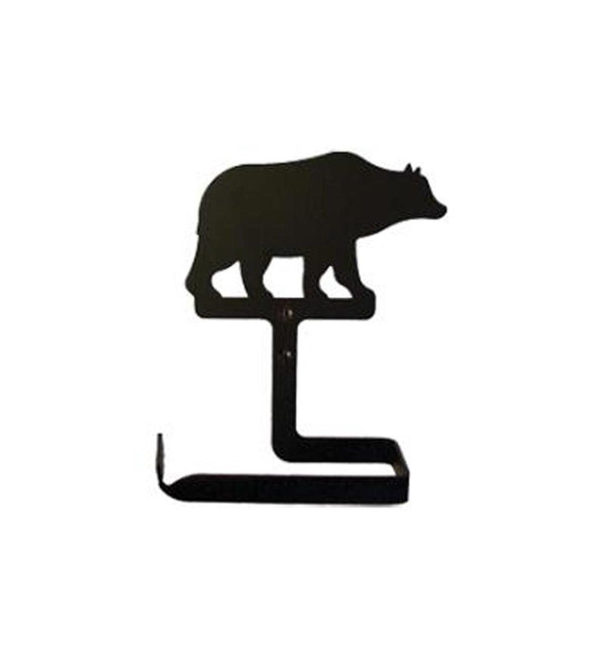 USA-Made Wrought Iron Traditional Toilet Paper Holder - Bear