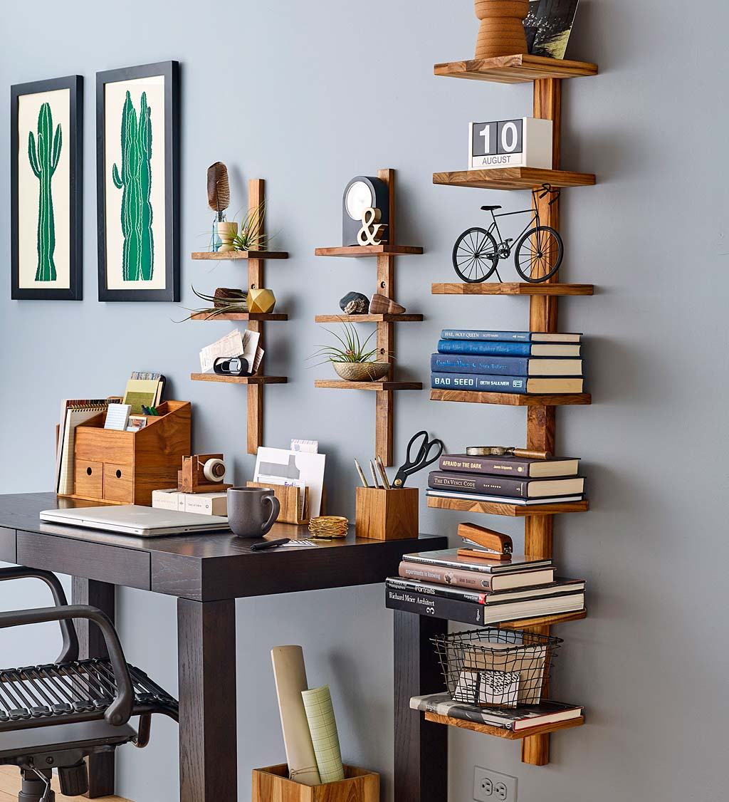 Mini Teak Wall Shelf