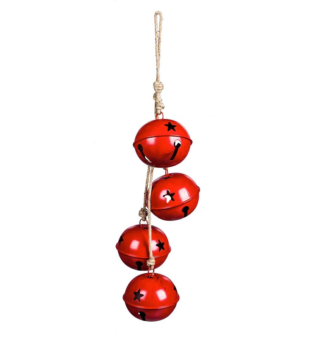 Oversized Red Jingle Bell Garland