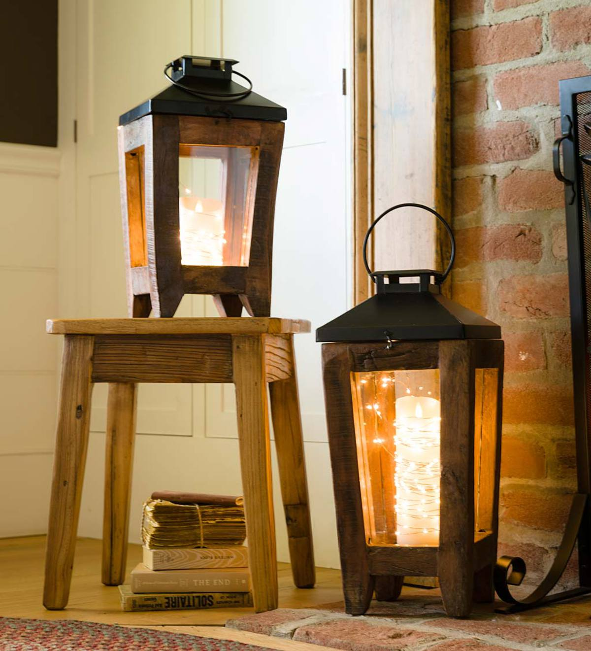 Reclaimed Wood and Metal Lantern