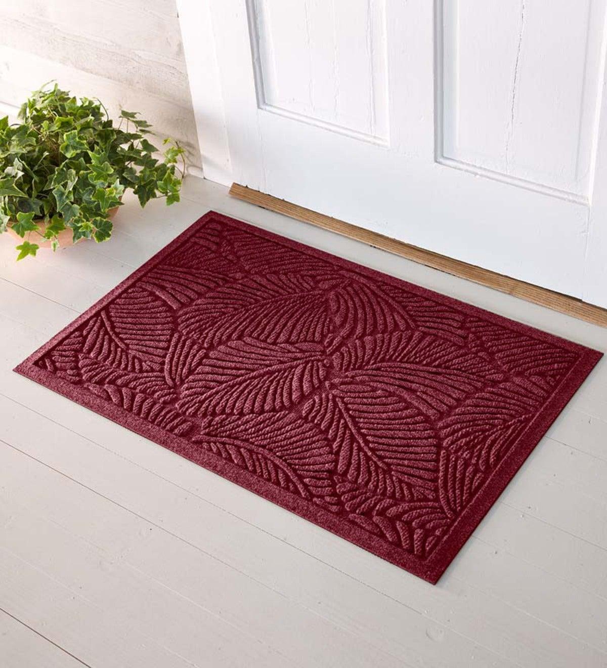 Oversized fern waterhog doormat