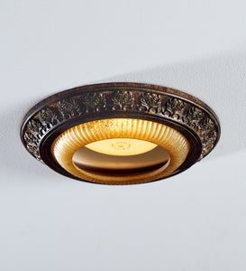 Acanthus Leaves Decorative Bronze Recessed Light Cap Ring