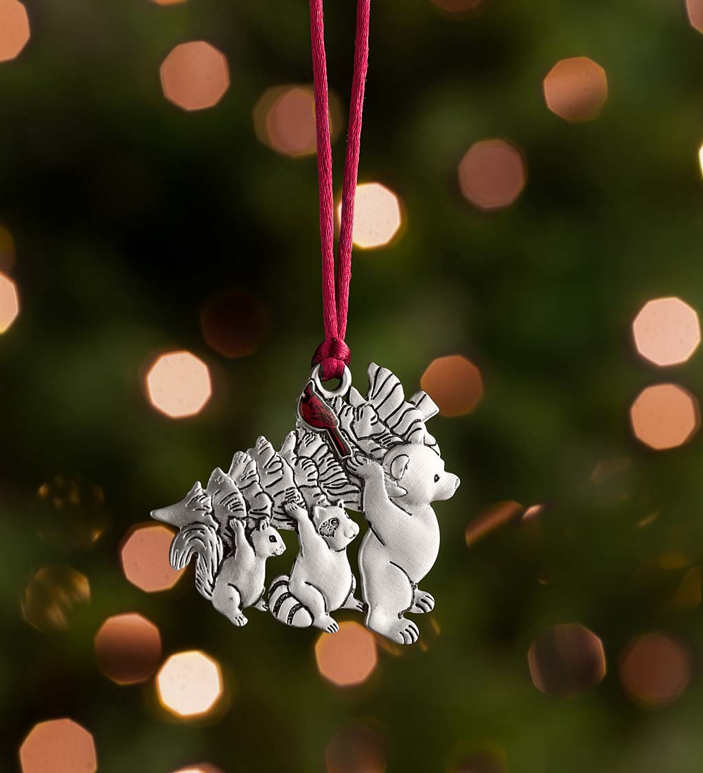 Solid Pewter Christmas Tree Ornament swatch image
