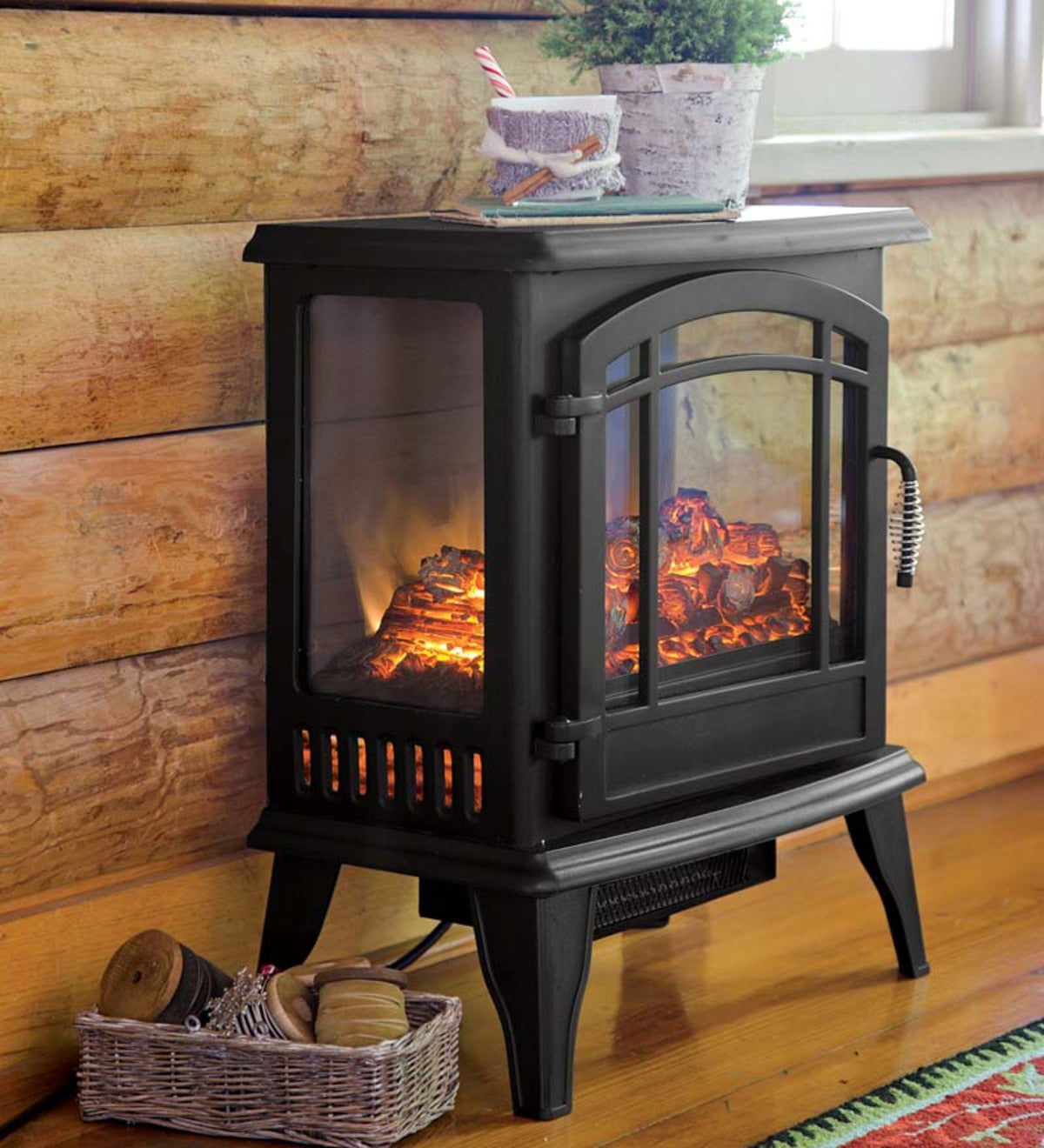 Panoramic Quartz Infrared Stove Heater Black Plowhearth