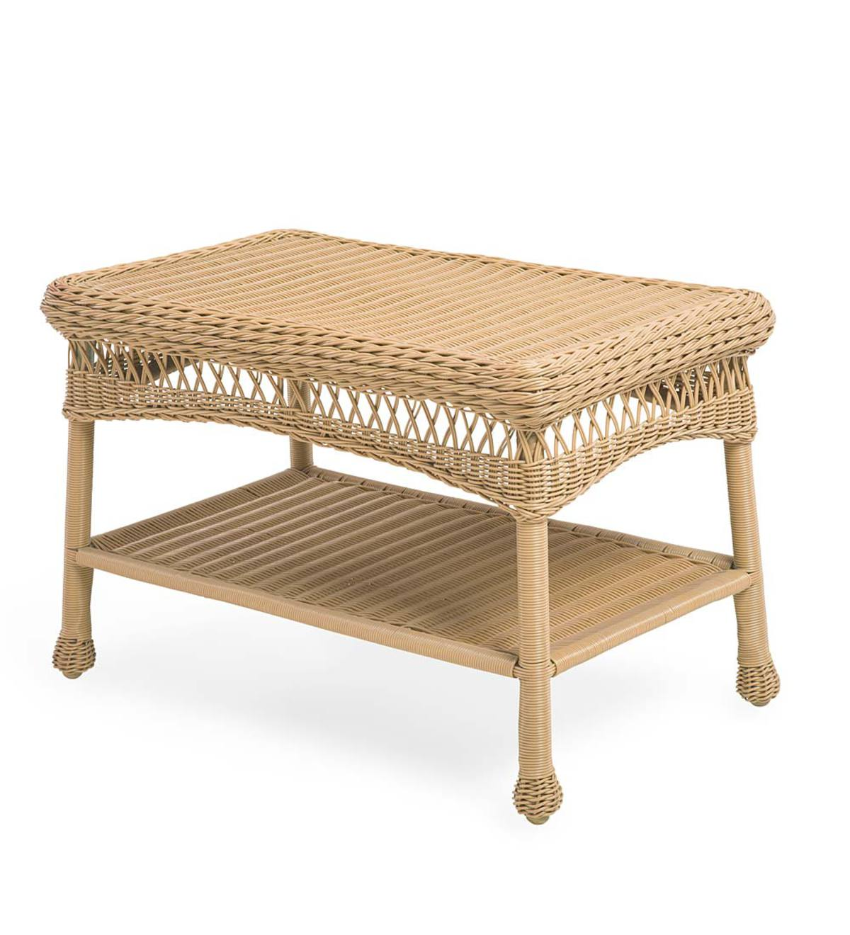 Easy Care Resin Wicker Coffee Table