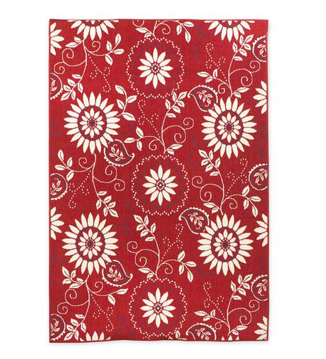 "Lexington Bandana Indoor/Outdoor Rug, 6'7""x 9'6"""