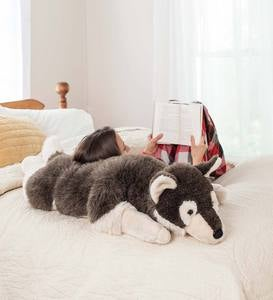 Husky Dog Plush Body Pillow