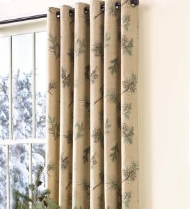 Thermalogic™ Insulated Peaceful Pine Grommet-Top Curtains