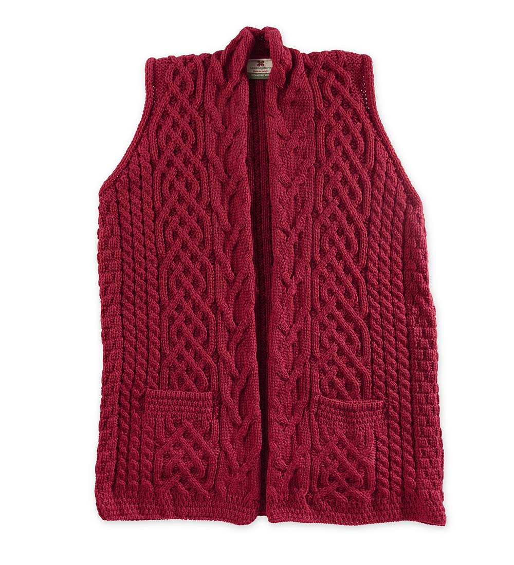 Women's Celtic Vest in Merino Wool