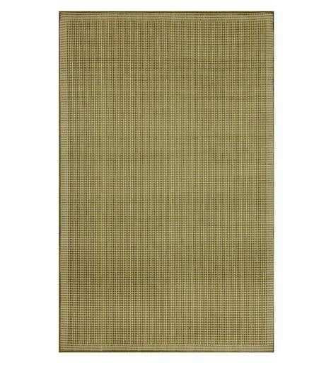 "Solid Color Indoor/Outdoor Polypropylene Rug, 23""x 35"""