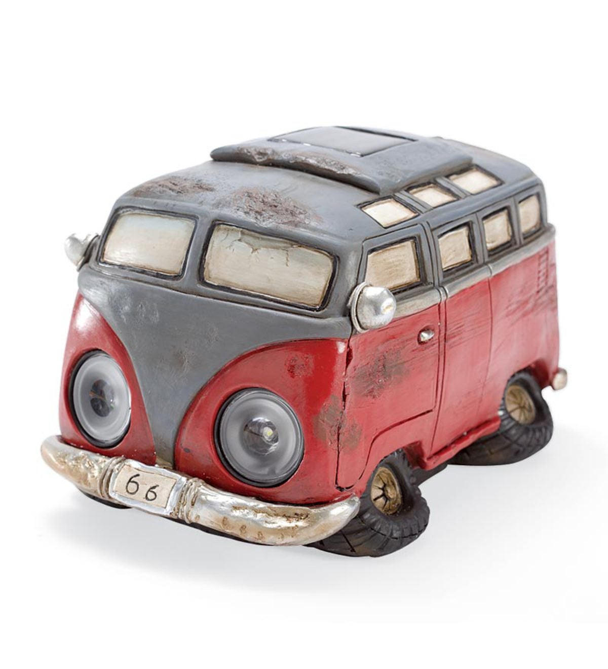 Resin Solar Vintage Pick-Up Truck Garden And Path Light