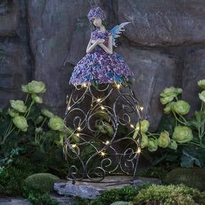 Solar Flower Angel Garden Accent
