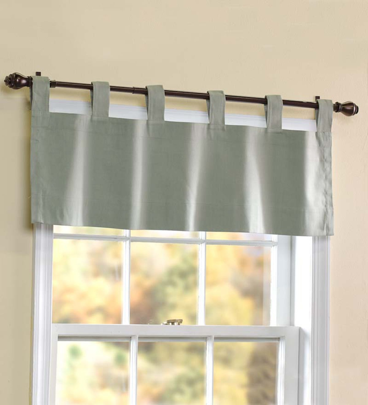 "Thermalogic™ Energy Efficient Solid Tab-Top Valance, 40""x 15""L"