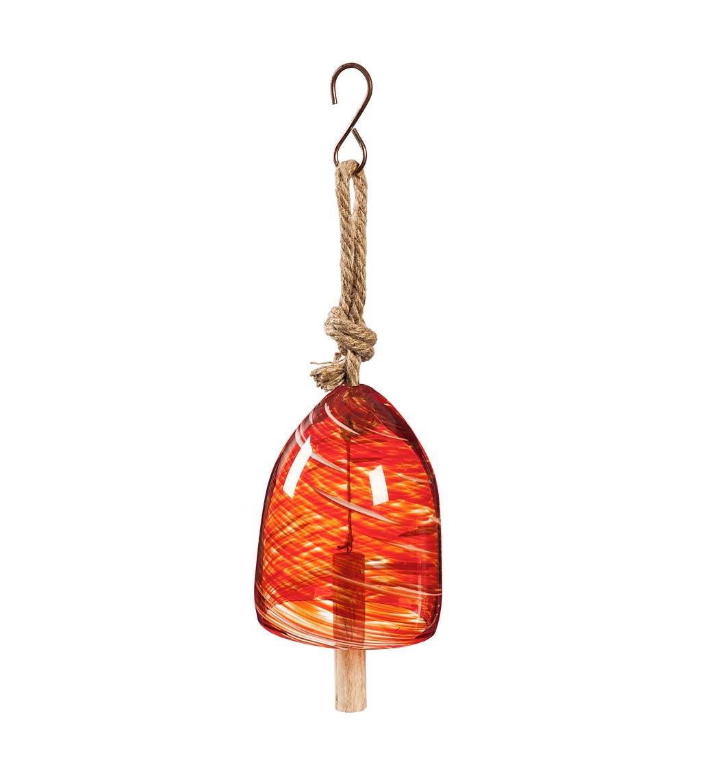 Colorful Swirled Glass Bell Chime