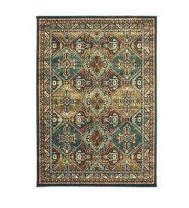 Daughton Teal Polypropylene Indoor Area Rugs
