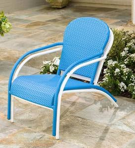 Stackable Outdoor Wicker Lounge Chair