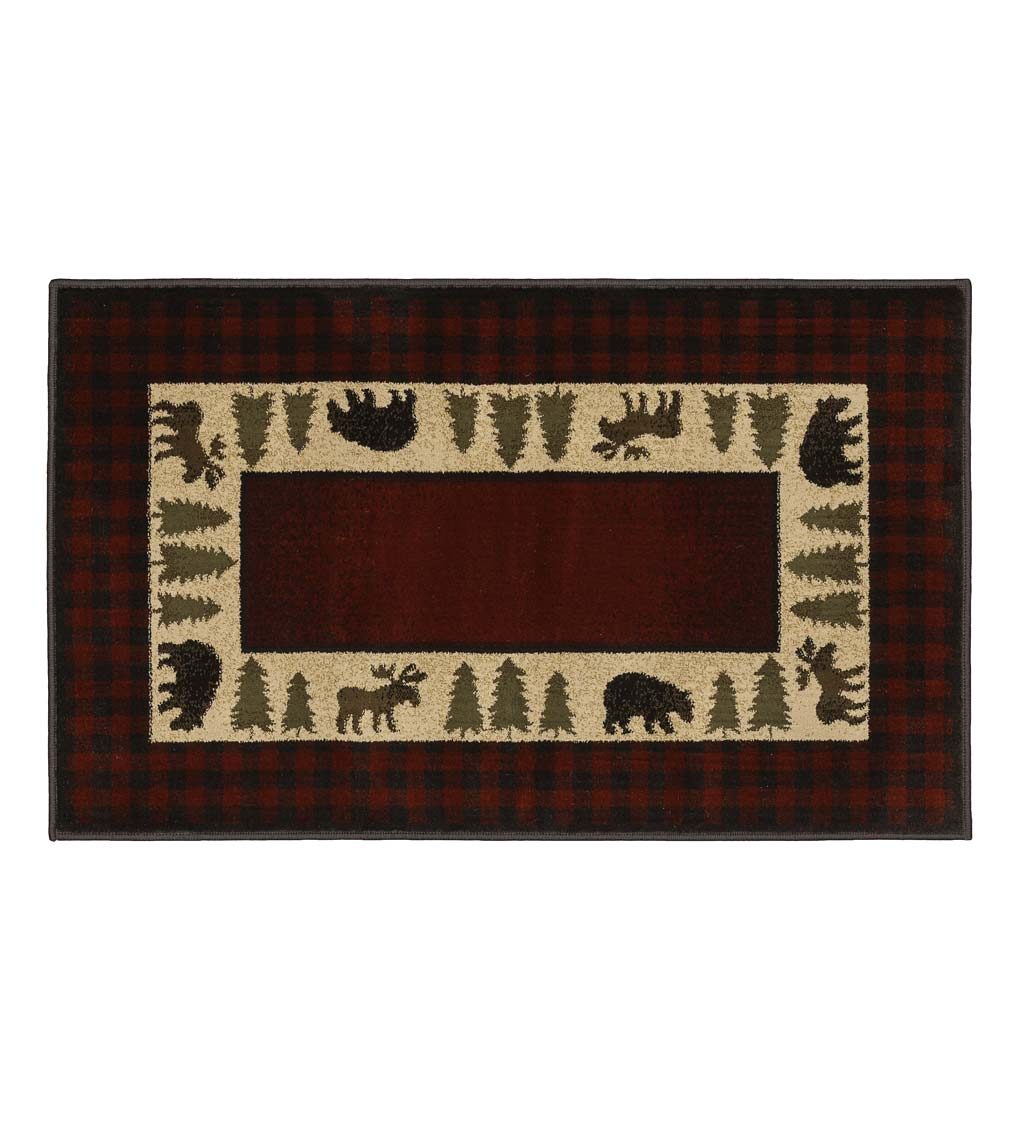 "Vista Bear and Moose Rug, 30"" x 50"""