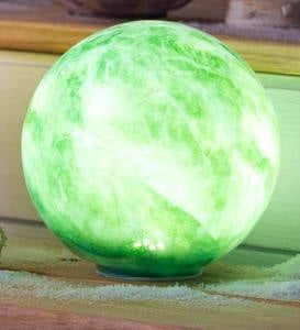 Glowing Elements Glass Garden Globes, Set of 3