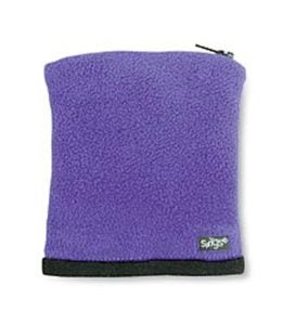 Banjees Polyester Fleece Wrist Wallet with Zipper - Purple
