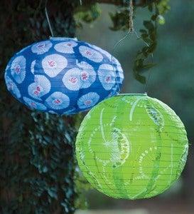 Soji Solar Lantern Outdoor Hanging Light Blue