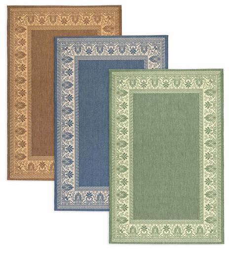 Veranda Border Indoor Outdoor Rug Outdoor Rugs Plowhearth