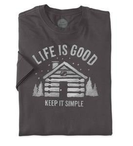 Life is Good Men's Long Sleeve Crusher Tee (64F08)