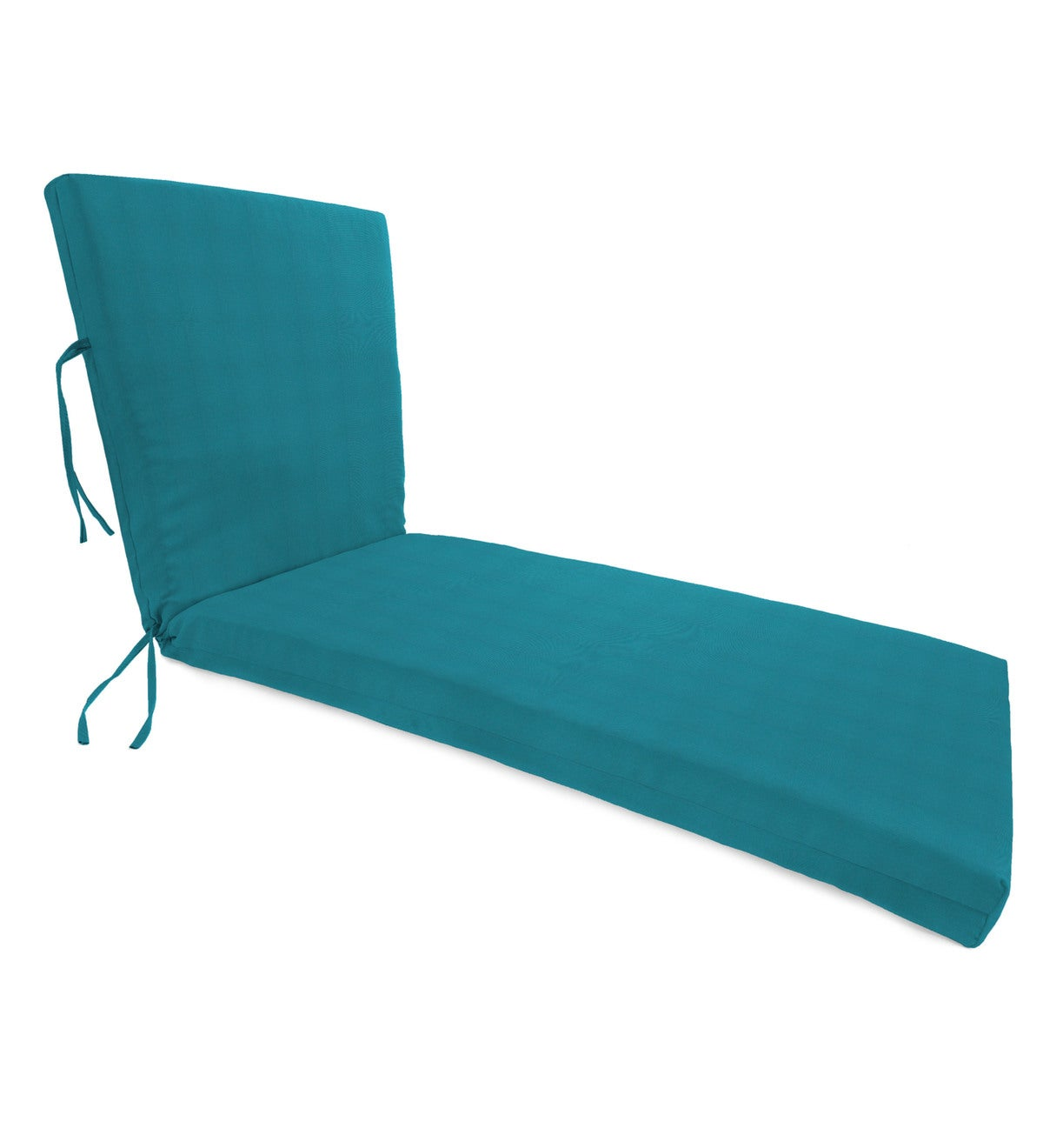 "Sunbrella® Classic Chaise Cushion with Ties, 65""x 23""x 4""hinged 46""from bottom"