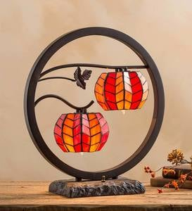 Stained Glass Pumpkins Accent Lamp