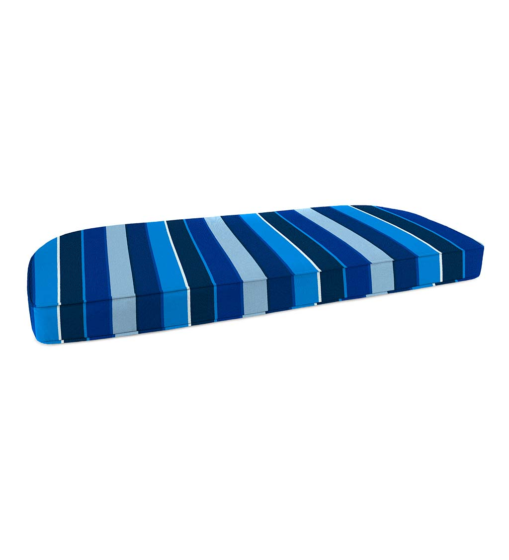 "Deluxe Sunbrella Rounded Swing/Bench Cushion 41¾"" x 18¾"" x 3"""