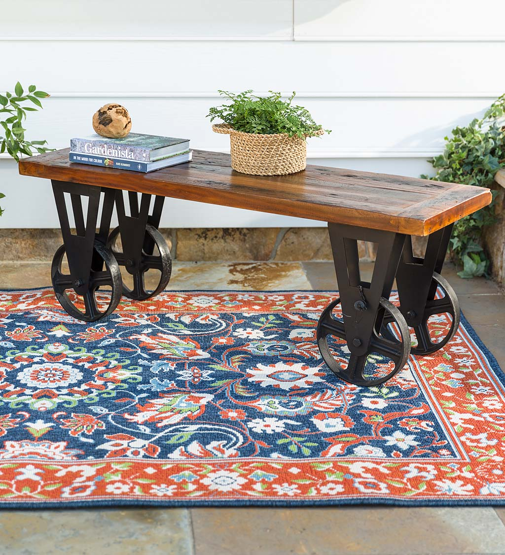 Allegheny Reclaimed Wood Coffee Table with Wheels