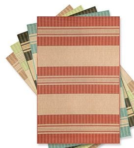 "7'10""x 9'10""Madison Stripe Indoor/Outdoor Rug - Green"