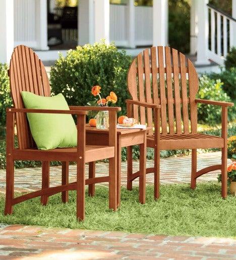 Springfield Eucalyptus Outdoor Dining Chair Plowhearth