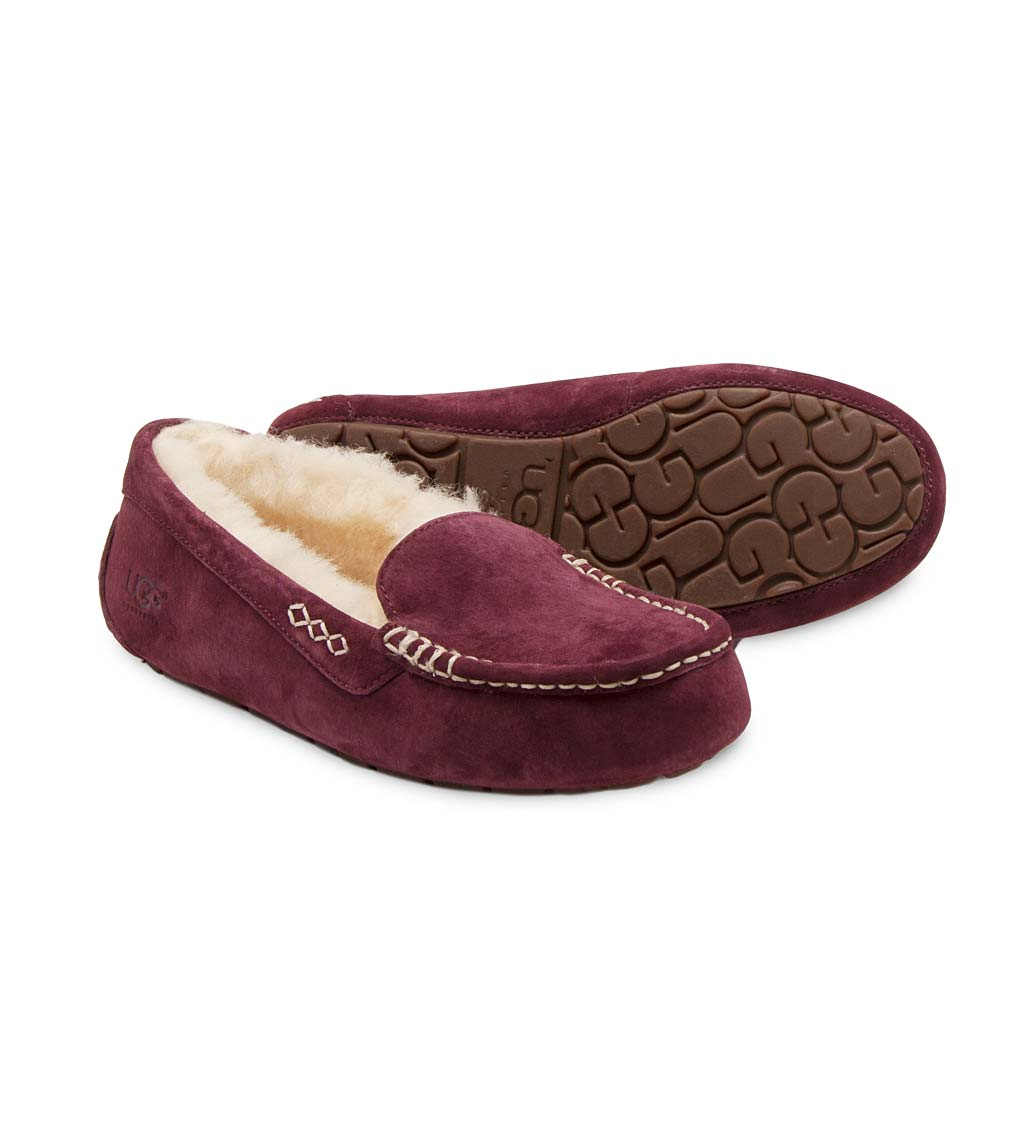 UGG Ansley Moccasin Slippers - Cordovan - Size 9