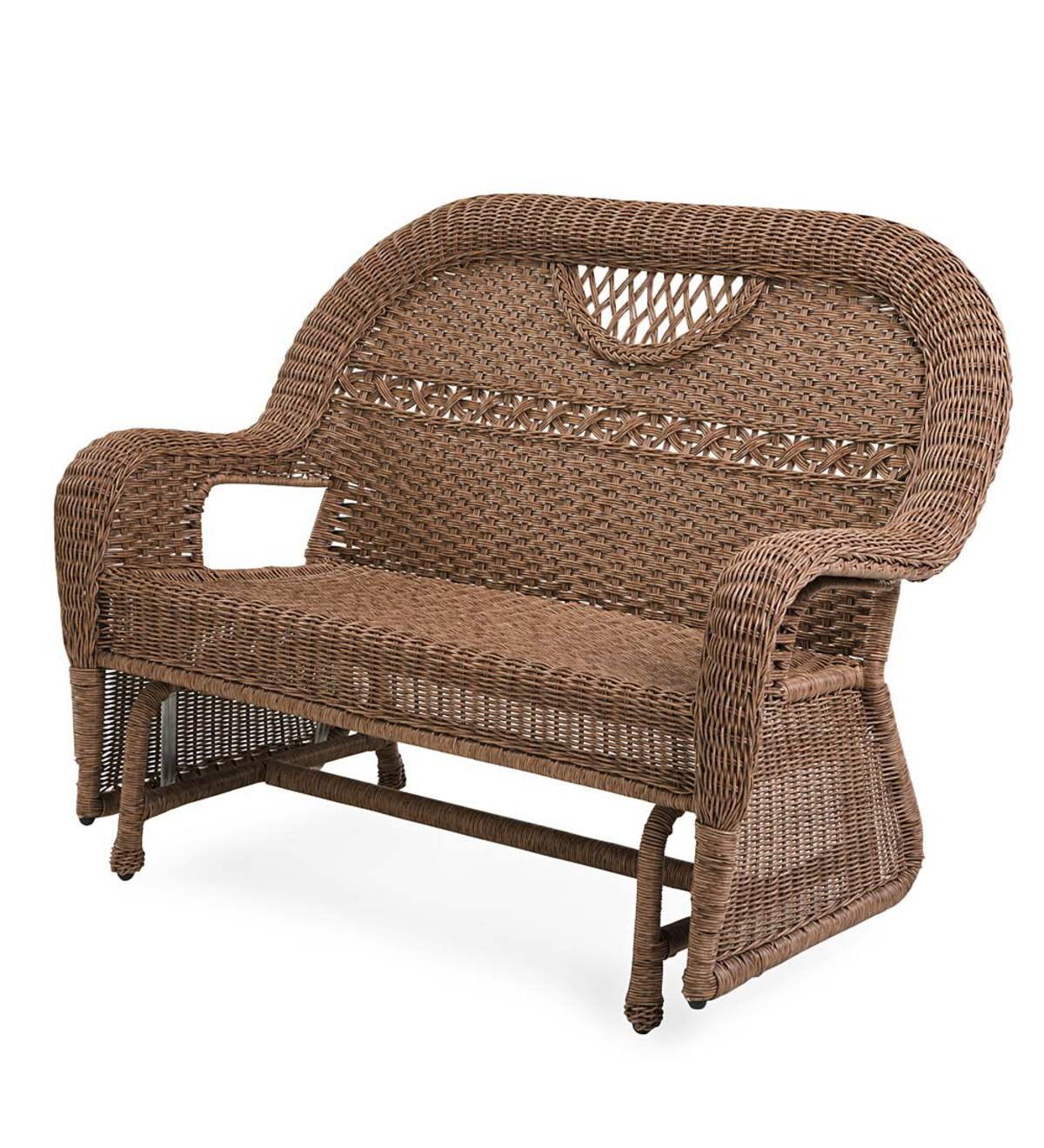 Prospect Hill Wicker Love Seat Glider