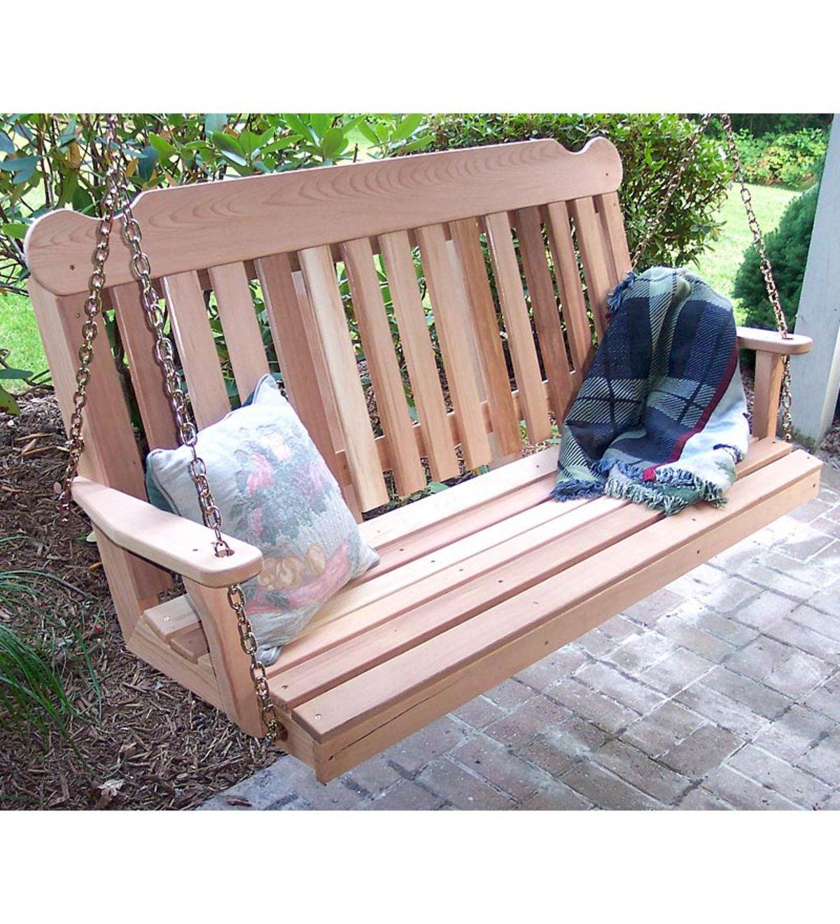 6 Ft USA Made Western Red Cedar Porch Swing