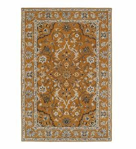 Lauren Border Wool Rug, 9' x 12'