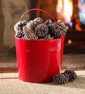 Fireplace Color-Changing Color Cones in Bucket