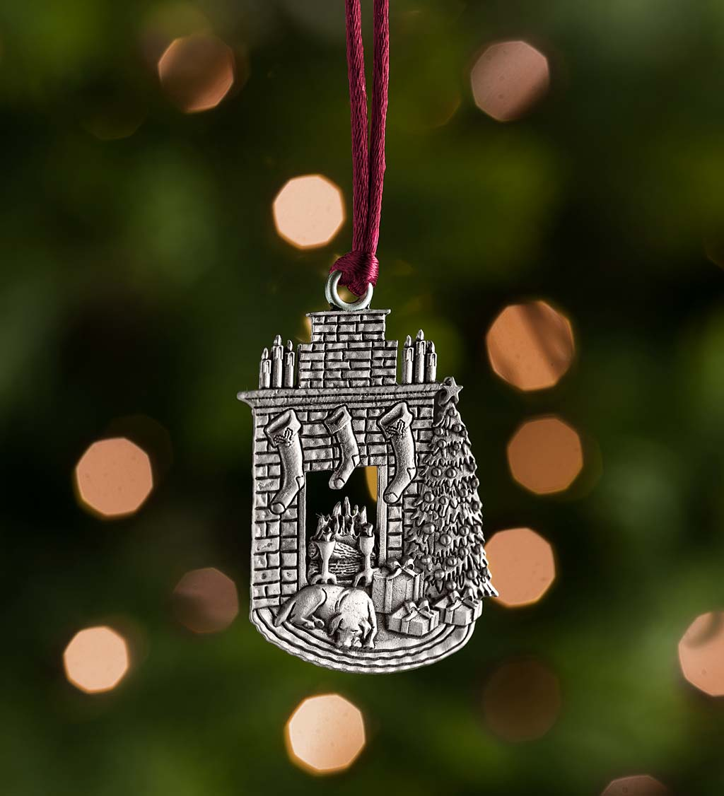 Solid Pewter Christmas Tree Ornament - Bells