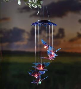 Color Changing Solar Mobile with Butterflies