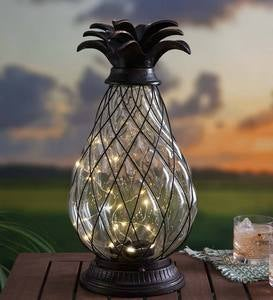 Solar Glass Pineapple Lantern
